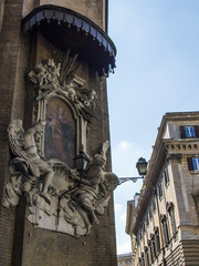 Rome, Italy. Architectural details of old houses