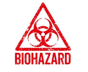 Roter Stempel - Biohazard