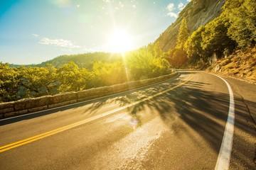Wall Mural - Sunny Yosemite Road
