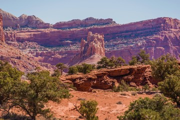 Wall Mural - Utah Rock Formation Scenery