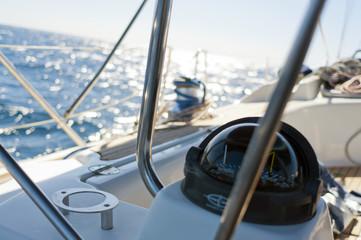 Sailing yacht compass