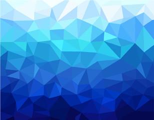 Geometric blue background