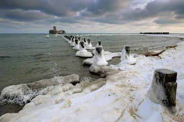 Krajobraz Morski, morze, zima