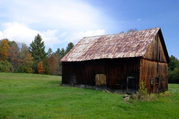 old barn on a farm ..
