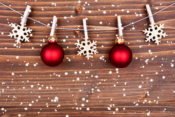 Snowy Christmas Decoration Background