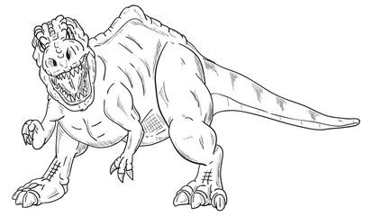 dinosaur attacking