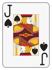 Jumbo index jack of spades