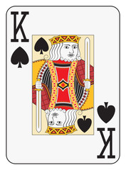 Jumbo index king of spades