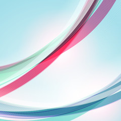 Abstract vector colorful wave background