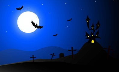 Horror Halloween Background-Vector