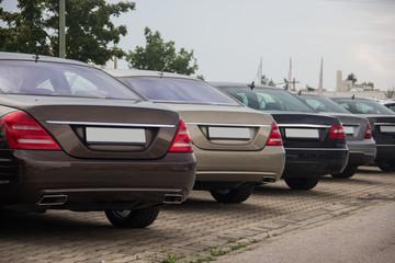 Autos von hinten