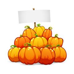 Heap of Halloween Pumpkins