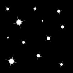 vector stars on black background