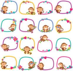 happy monkey layout design