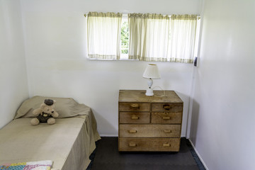 Bed lamp and night stand in old fasion room