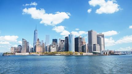 New York skyline downtown manhattan