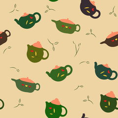 seamless teapot pattern