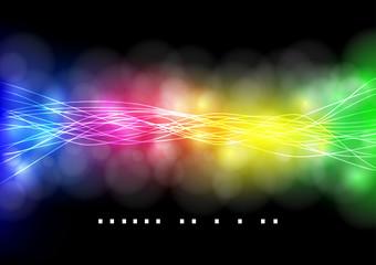abstract neon rainbow