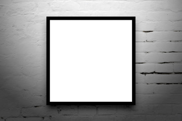 Square Poster hanging on the art gallery wall