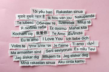 love multilingual word