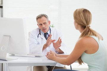 Doctor giving patients their test results