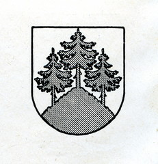 Coat of arms of Tukums, Latvia ca. 1930