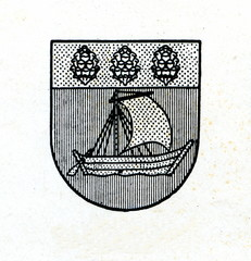 Coat of arms of Valdemarpils, Latvia ca. 1930