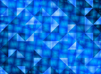 dark blue reflection abstract background