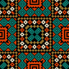 Ethnic geometric ornament