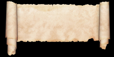 Medieval parchment on a black background.