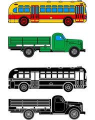 Bus and truck