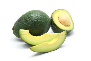 Wall Mural - Avocado isolated on a white background