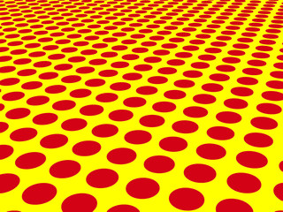 Red dots on yellow