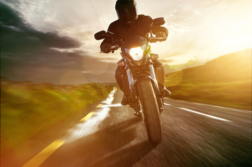 Fototapete - Motorbike