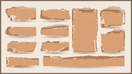 vector cardboard objects