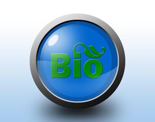 Bio icon. Glossy button.