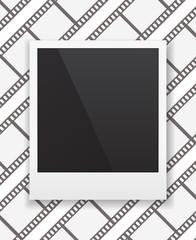 photo frame icon on film-strip background