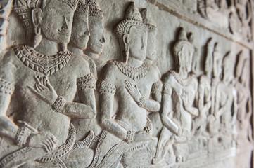 Bassorilievo Angkor Wat (particolare)