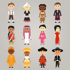 Different ethnic people