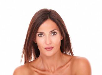 Beautiful latin female looking at camera