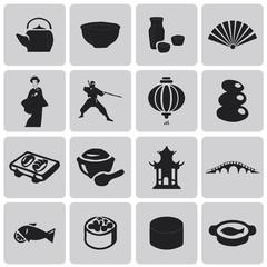 Japan Black icons web set2. Vector Illustration eps10