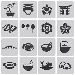 Japan Black icons web set3. Vector Illustration eps10