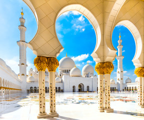 Photo sur Plexiglas Abou Dabi Sheikh Zayed Mosque, Abu Dhabi, United Arab Emirates.