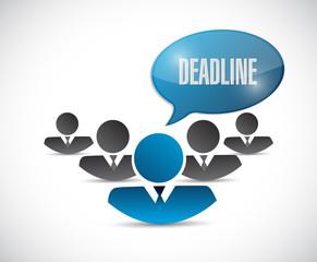 work deadline message illustration