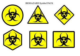 Biohazard symbol label pack