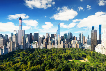 New York City - central park view to manhattan at sunny day Wall mural