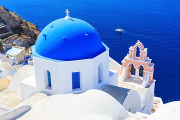 Fototapete - The village of Oia in Santorini, Greece