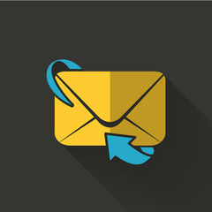 colorful flat design email forwarding icon