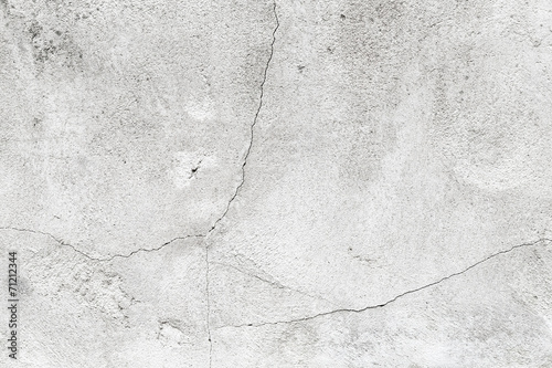 Fototapete Background texture of grungy concrete wall with white paint