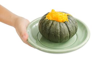 Egg custard in pumpkin